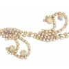 Rhinestone Chain Trim Vine 30mm Gold/crystal